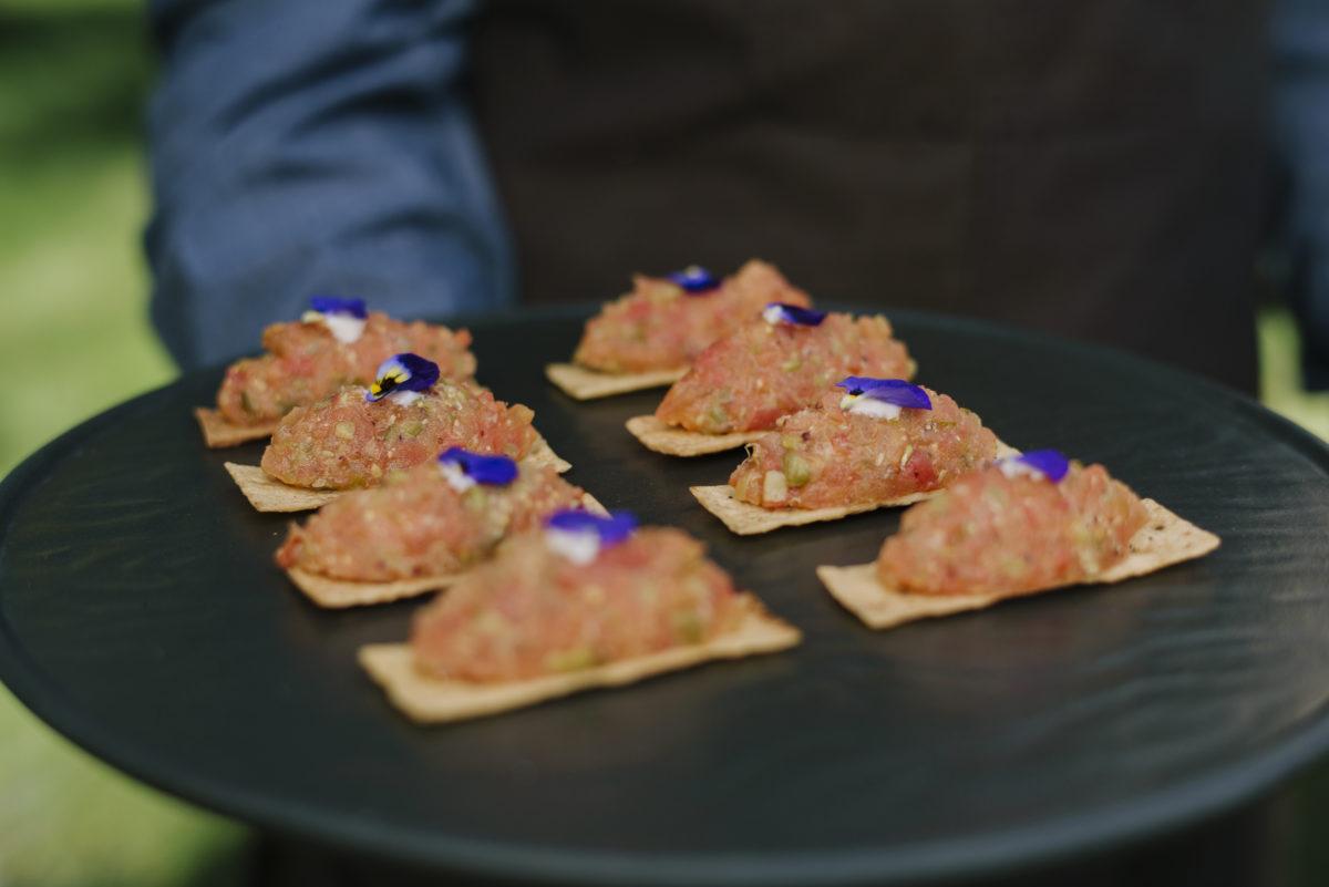 Steak Tartar of candied tomatoe
