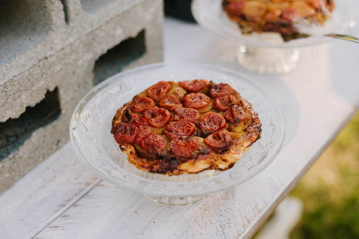 Cherry tomatos Tatin